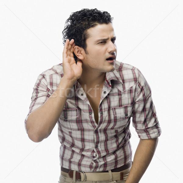 Сток-фото: человека · слушать · стороны · уха