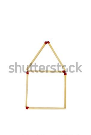 Modèle maison groupe sécurité protection Photo stock © imagedb