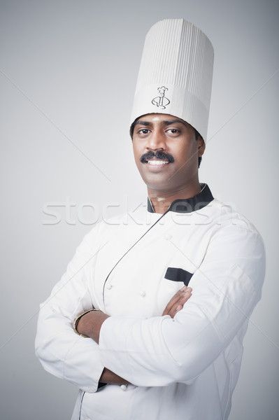 Zuiden indian chef permanente glimlachend Stockfoto © imagedb