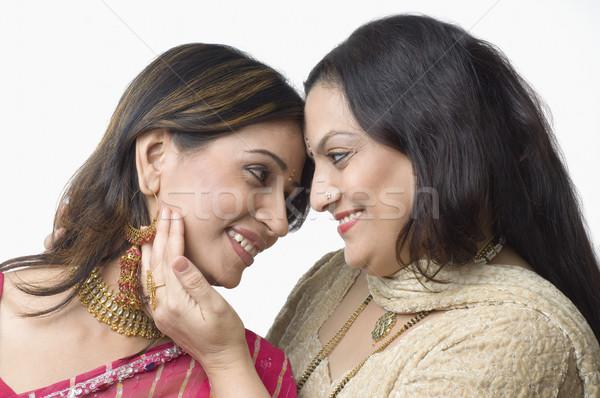 Kadın kız aile gülümseme sevmek Stok fotoğraf © imagedb