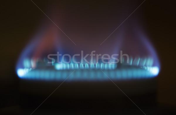 пламя газ печи кухне синий Сток-фото © imagedb