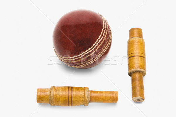 крикет мяча древесины красный новых Сток-фото © imagedb