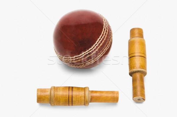 Cricket balle bois rouge nouvelle Photo stock © imagedb
