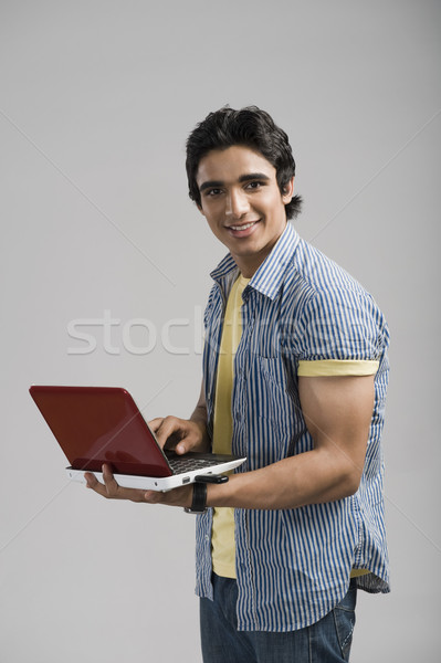 Portrait homme travail portable ordinateur technologie Photo stock © imagedb
