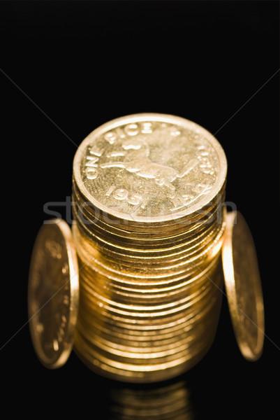 мнение Золотые монеты портрет улыбаясь Сток-фото © imagedb