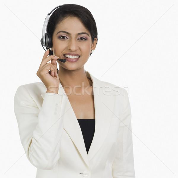 Primer plano femenino servicio al cliente representante negocios mujer Foto stock © imagedb