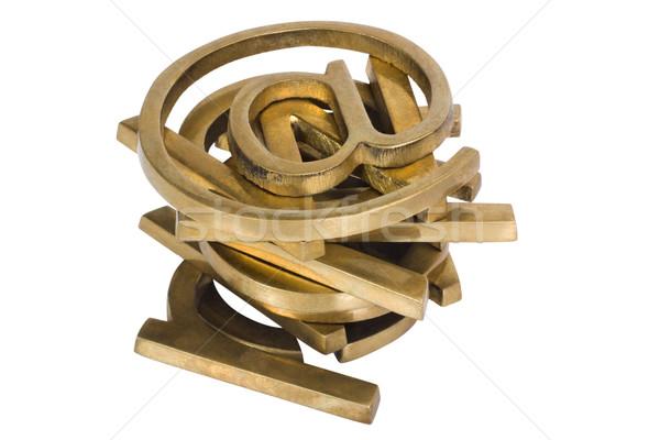 Internet símbolos tecnología grupo los medios de comunicación equilibrio Foto stock © imagedb