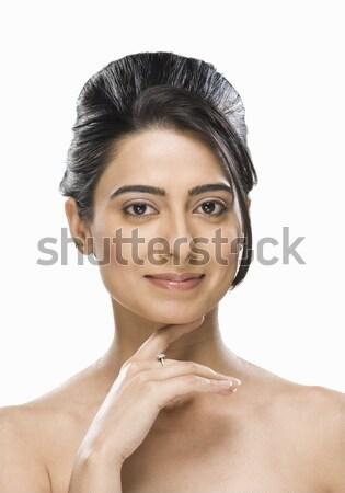 Portrait of a woman smiling Stock photo © imagedb