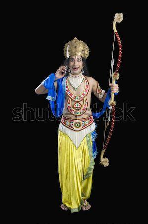 Portré férfi mitológiai karakter tart mosolyog Stock fotó © imagedb
