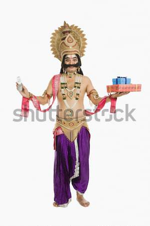 Retrato homem mitológico sorridente Foto stock © imagedb