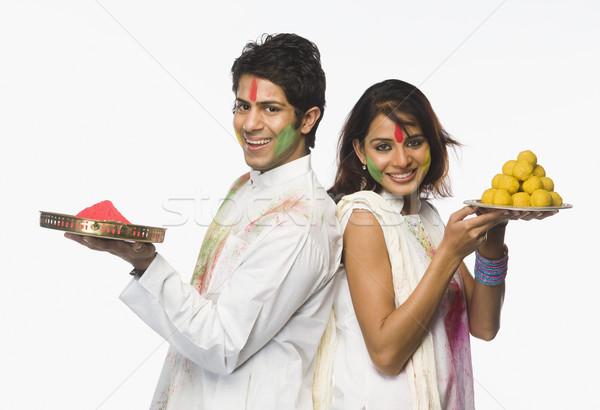 пару краской радости счастье празднования Сток-фото © imagedb
