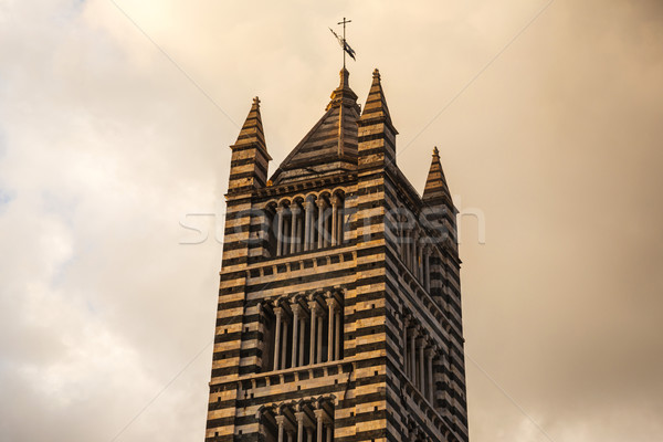 Low angle view of a bell tower Stock photo © imagedb