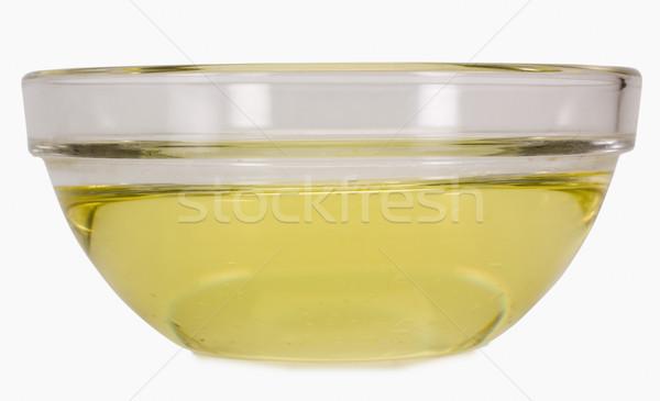 Közelkép étolaj tál olaj citromsárga vízszintes Stock fotó © imagedb