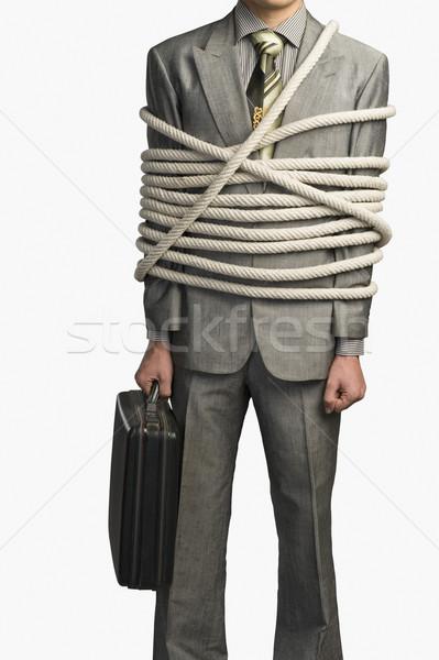 мнение бизнесмен вверх Веревки бизнеса Сток-фото © imagedb