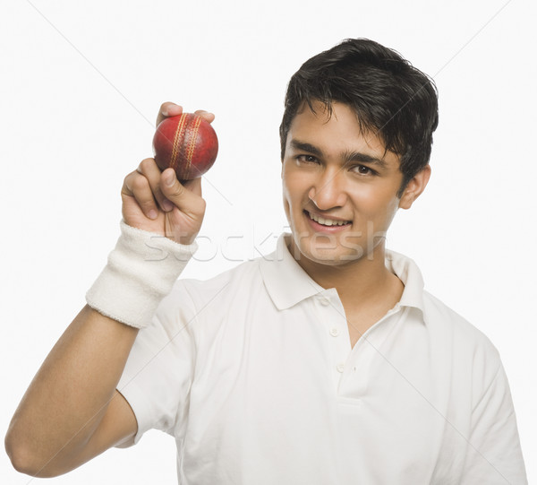 Cricket Spieler Ball Mann Sport Stock foto © imagedb