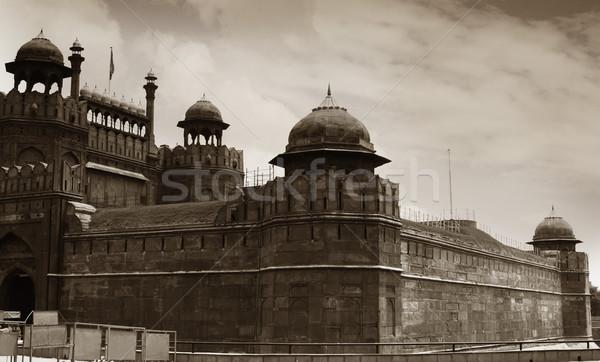Alulról fotózva kilátás erőd piros Delhi India Stock fotó © imagedb