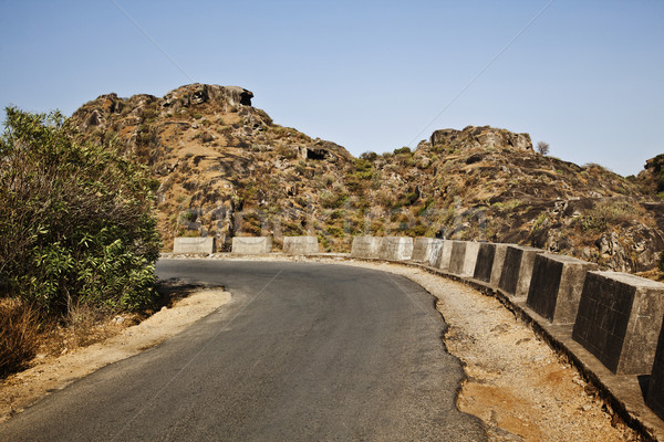 Road passing through a mountain range, Guru Shikhar, Arbuda Moun Stock photo © imagedb