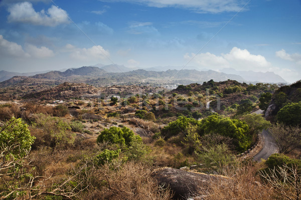 Clouds over Guru Shikhar, Arbuda Mountains, Mount Abu, Sirohi Di Stock photo © imagedb