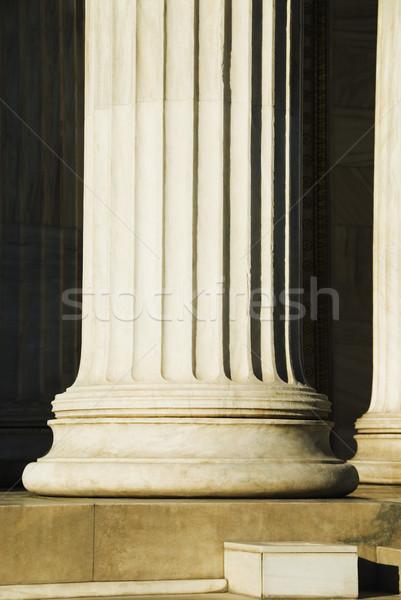 Sütun Atina akademi Yunanistan Bina dizayn Stok fotoğraf © imagedb