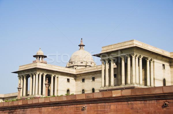 Overheid gebouw new delhi Indië Stockfoto © imagedb