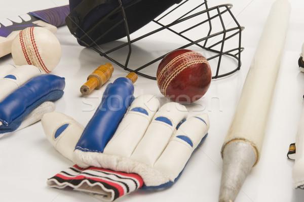 Cricket équipement sport groupe balle Photo stock © imagedb