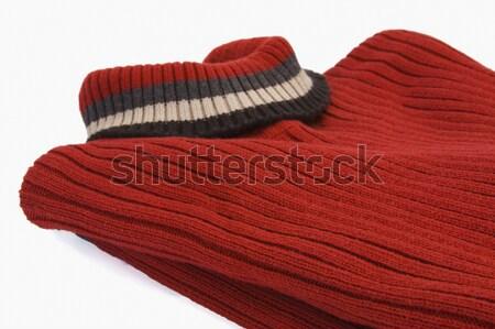 свитер защиту шерсти белом фоне крупным планом Сток-фото © imagedb