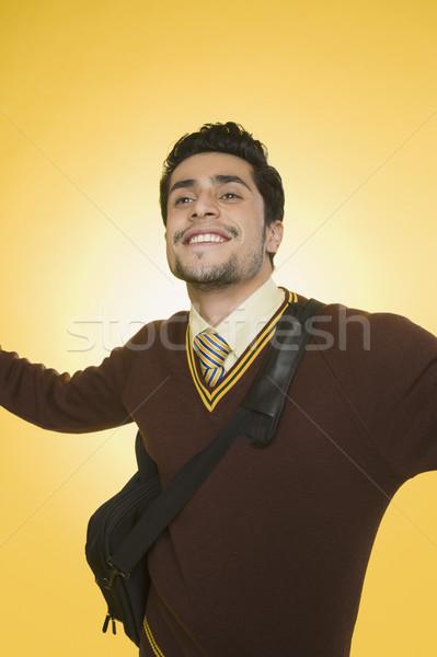 Işadamı gülen kol iş adam özgürlük Stok fotoğraf © imagedb