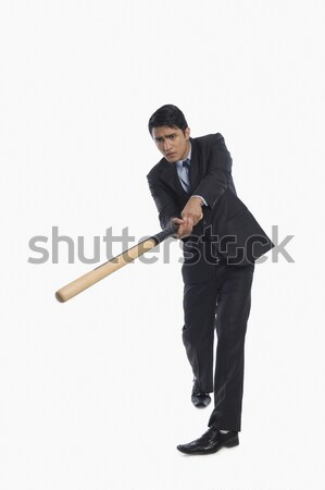 Empresário jogar beisebol negócio homem esportes Foto stock © imagedb