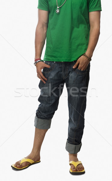 Düşük bölüm görmek adam ayakta eller Stok fotoğraf © imagedb