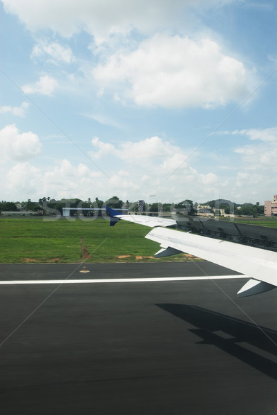 Сток-фото: самолет · аэропорту · Нью-Дели · Индия