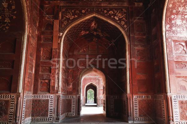 Taj Mahal India fal építészet történelem iszlám Stock fotó © imagedb