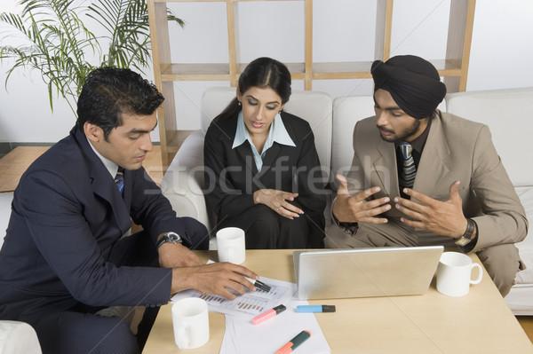 Affaires réunion bureau café Photo stock © imagedb