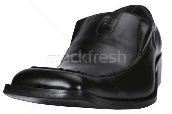 черный кожа обуви моде чистой Сток-фото © imagedb