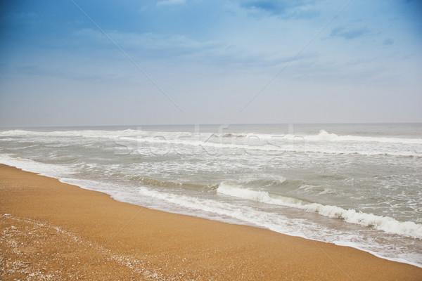 Waves on the beach, Chennai, Tamil Nadu, India Stock photo © imagedb