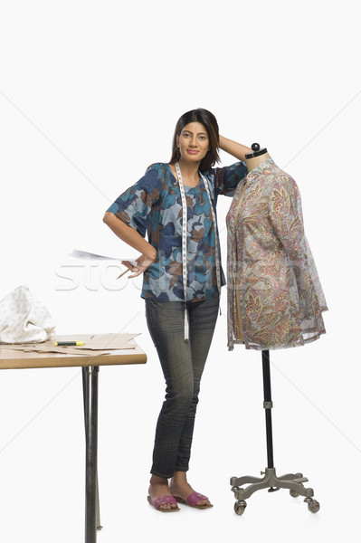 Weiblichen Mode Designer Schaufensterpuppe Papier Stock foto © imagedb
