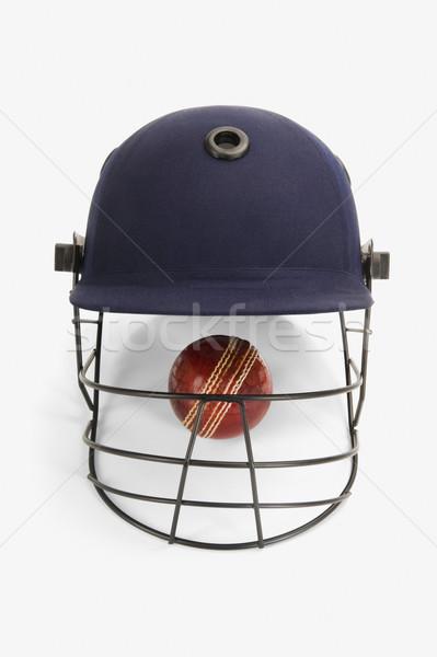 Kriket top kask spor güvenlik Stok fotoğraf © imagedb