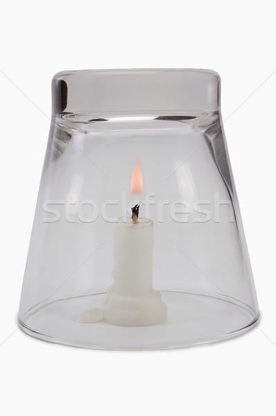 Wetenschappelijk experiment tonen zuurstof noodzakelijk brandend Stockfoto © imagedb