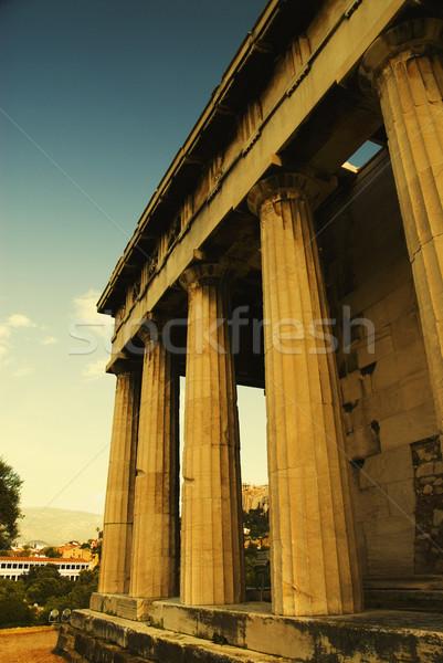 Antigo templo Partenon Acrópole Atenas Grécia Foto stock © imagedb
