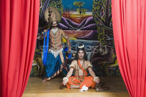 Dois etapa mitológico retrato sorridente Foto stock © imagedb