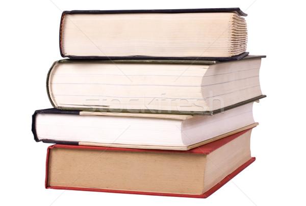 Közelkép boglya könyvek oktatás tanulás tudás Stock fotó © imagedb