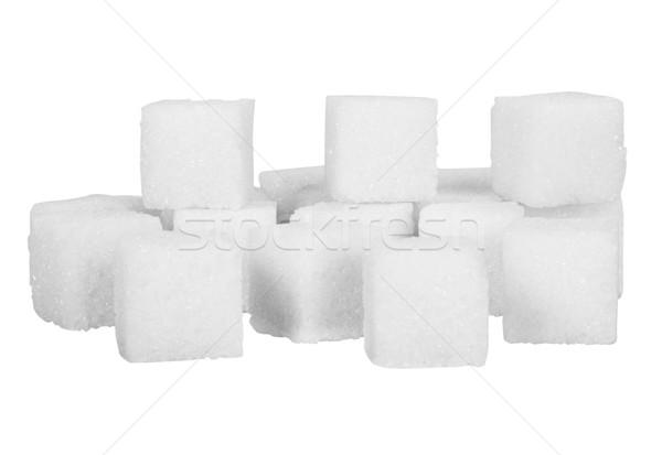 Primer plano terrones de azúcar grupo dulce azúcar primer plano Foto stock © imagedb