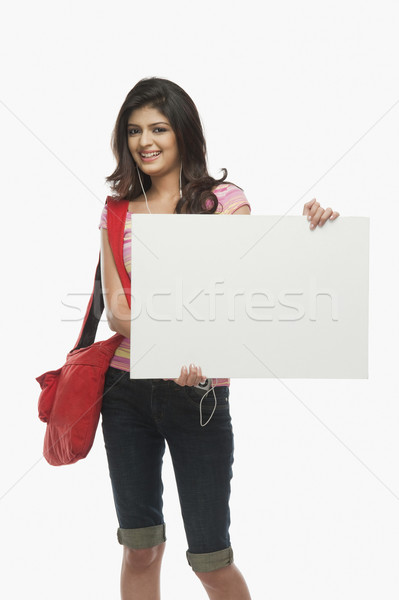 Femme portrait sac jeunes Homme Photo stock © imagedb