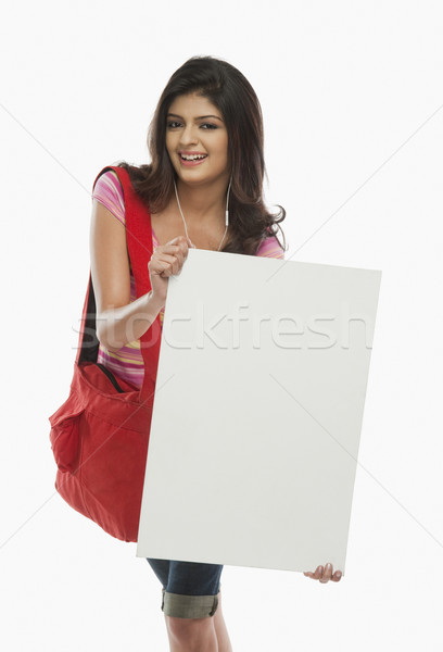 Kadın portre çanta genç kadın Stok fotoğraf © imagedb