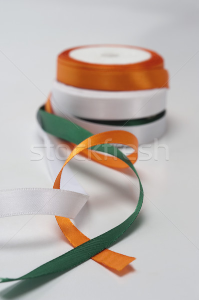 индийской флаг цветами оранжевый свободу Сток-фото © imagedb