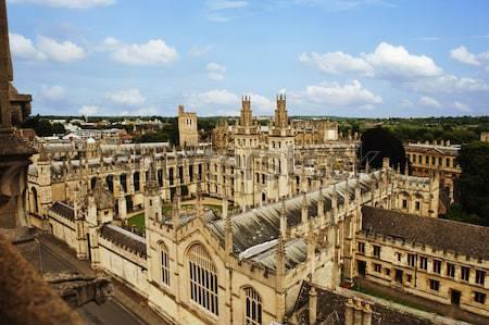 Universiteit gebouwen stad oxford oxfordshire Engeland Stockfoto © imagedb