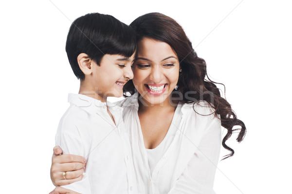 幸せ 母親 笑みを浮かべて 家族 両親 ストックフォト © imagedb