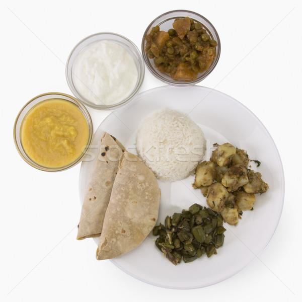 View cucina indiana cena riso patate Foto d'archivio © imagedb