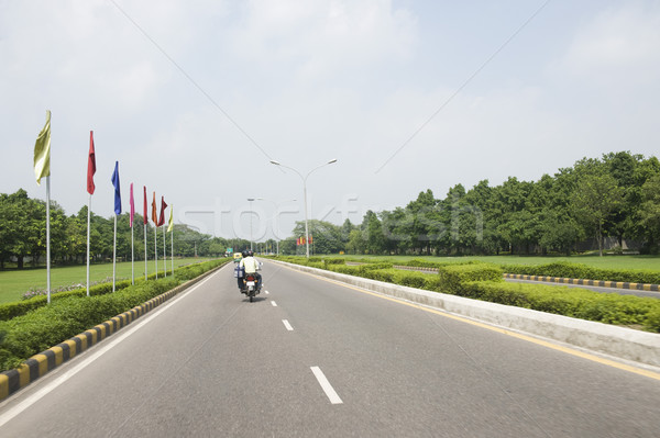 Moto route chemin new delhi Inde ciel Photo stock © imagedb