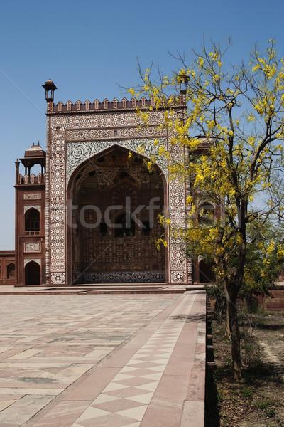 Mozole mezar muhteşem ağaç kapı Stok fotoğraf © imagedb