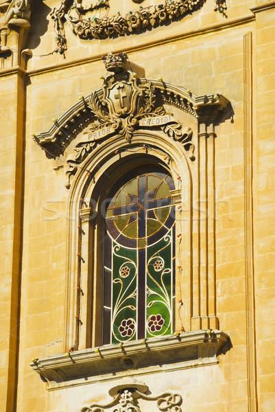 Venster kerk dame overwinning glas reizen Stockfoto © imagedb